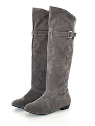 Women's Shoes Low Heel Slouch/Round Toe Boots Casual Black/Brown/Yellow/Red/Gray