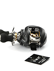 DMK DM120LA-C2 12 Bearing Bait Casting Fishing Reel Gear Ratio 6.3:1 Max Drag 5kg Left Handle  Magnetic Brake