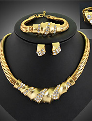 Danbi    European And American Fashion Earrings Necklace Exaggerated Four Set