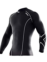 Men's Long Sleeve Compression Breathable / Rain-Proof / Fitness cloth Black