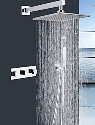 Shengbaier® Contemporary Shower Faucet with 9 inch Shower head + Hand Shower