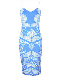 Women's  Bodycon  Sleeveless Print  Dress