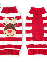 Sweaters for Dogs / Cats Red Winter Christmas / New Year's XXS / XS / S / M / L / XL / XXL Mixed Material
