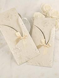 Personalizado Embrulhado e de Bolso Convites de casamento Cartões de convite-50 Peça/Conjunto Papel Pérola