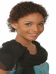 European And American Women Fashion Caps Short Curly Hair Brown Color