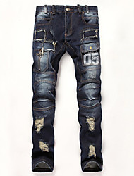 Pantalon Décontracté / Grandes Tailles Pour des hommes Manches longues A Motifs Coton / Toile de jean