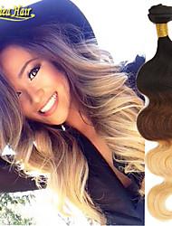 3Pcs/Lot 8A Hair Products Brazilian Virgin Hair Ombre Body Wave Cheap 3 Bundles Ombre Brazilian Hair Weave Ombre 1B/4/27