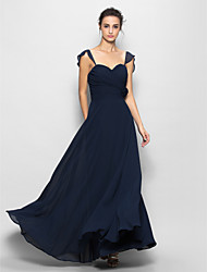 Floor-length Chiffon Bridesmaid Dress Sheath/Column Sweetheart