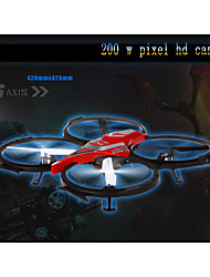 F182 4CH 6 AXIS GYRO RC Helicopter 2.4G Remote Control Drone With  Light Electric Quadcopter 200W Pixel Aerial Edition
