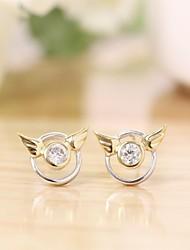 Silver earings 925 women korean tv drama charms nail small angel diamond 3a cz stud earrings,mercurial superfly branded