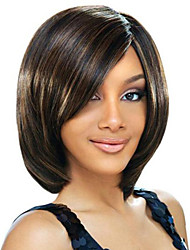 New Fashion Human Virgin Bob Hair Lace Front Wig For Women 10''-14'' Bob Wig Celebrity Hairstyle African American Wigs
