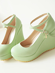 Women's Shoes Wedge Heel Wedges/Heels Pumps/Heels Casual Black/Brown/Green/Beige