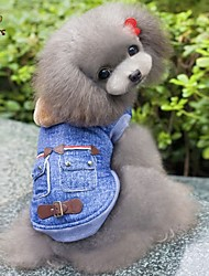 Dog Hoodie / Denim Jacket/Jeans Jacket Blue Dog Clothes Winter / Spring/Fall Jeans Cowboy / Fashion