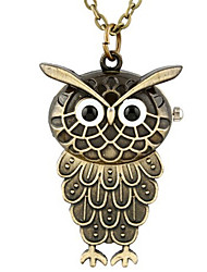 Man And Wwoman Quartz Owl Pocket Watch Cool Watch Unique Watch