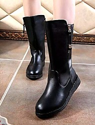 Women's Shoes AmiGirl New Fashion Hot Sale Wedge Heel Fashion Boots Dress/Casual Black