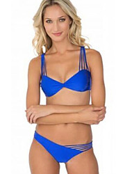 Kvinders Polyester/Spandex Blomstret Bikini