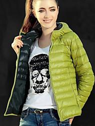 Manteau Doudoune Aux femmes Manches Longues Décontracté Polyester / Coton Organique