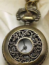 reloj de bolsillo de hoja de hiedra de cuarzo Mujer