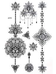 BlackLace Henna Indian Body Temporary Sexy Tattoos Sticker For Women,Teens,Girls(5 Patterns in 1 Sheet) J019