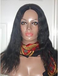 Brazilian Virgin Hair Yaki Straight  Full Lace Wig Glueless full lace wigs