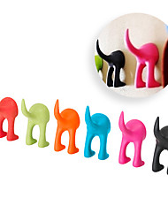 Soft Rubber Dog Cat Pet Leash Hook Bastis Clothes Hanger