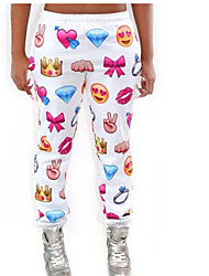 Emoji Joggers Women Winter Pants 2015 Women Low Waist Pants Cartoon Sweatpants Joggers Trousers