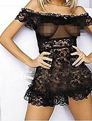 Encaje sexy babydoll transparente de la Mujer