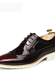 Sapatos Masculinos Oxfords Azul / Amarelo / Vermelho Couro Envernizado Casual