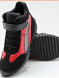 Sneakers a la Moda ( Rojo / Blanco / Gris ) - Punta Redonda - Cuero