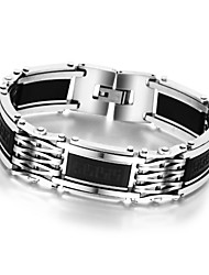 Men's Titanium Steel Magnetic Bracelet Business Bangle Health Wristband Silcone Stainless Steel Link Chain Bracelet Fashion Jewelry Gifts 50g