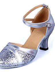 Women's Dance Shoes Leatherette Paillette Modern Heels Heel Customizable