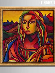 e-FOYER encadrée art de toile, portrait d'une femme encadrée impression sur toile