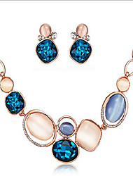MPL Fashionable shining jewel concise temperament Necklace Earrings Set