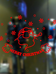 Window Stickers Window Decals Style New Merry Christmas Window Glass Decoration PVC Window stickers