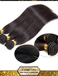 pelo virginal brasileño barato rectas humanos pelo 3 paquetes de pelo lacio 8'-30 'pulgadas negras naturales