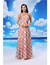 Formal Evening Dress - Candy Pink A-line Strapless Floor-length Organza/Satin