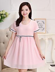 Vestido de maternidad Mini Raso - Escote Redondo Manga Corta