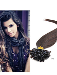 "18""-28""  1g/strand 100g/pack Nail Tip Hair Extension Keratin Fusion Hair Extension Brazilian Virgin Hair"