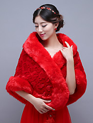 Red Wedding / Party/Evening Imitation Cashmere Shawls Sleeveless Bridal Wraps / Shawls