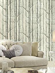 nova rainbown ™ árvores contemporâneas / deixa o teste padrão da árvore de vidoeiro madeiras não-tecidos revestimento de parede arte