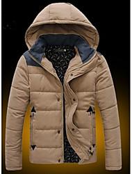 Dans Men's Hoodie Coats & Jackets , Cotton Blend Long Sleeve Casual Flower Winter