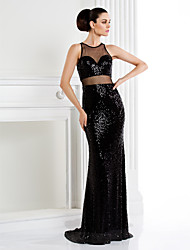 TS Couture® Formal Evening / Black Tie Gala Dress Trumpet / Mermaid Jewel Sweep / Brush Train Sequined with