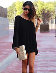 Robes ( Mousseline / Coton / Polyester ) Informel / Travail Asymétrique à Ample pour Femme