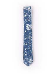 Blue Printed Denim Skinny Ties 6cm(2.3in)