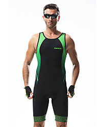 Santic Triathlon suit Cycling Clothing Green+Black Sleeveless Wear and Shorts Conjoined Cycling Clothing
