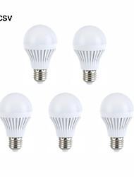 5шт E27 5W 18 SMD 2835 Теплый белый / белый привело лампочки глобус мяч луковицы (AC 220V)
