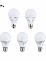5pcs e27 5W 18 smd 2835 branco morno / branco levou lâmpadas globo bola bulbos (220V AC)