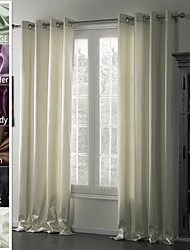 TWOPAGES® Jackson Collection Solid Insulated Thermal Blackout Polyester Curtain Drape One Panel