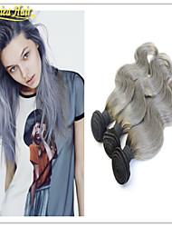 grado 8a sin procesar onda del cuerpo del pelo brasileño virginal del pelo humano del pelo ombre armadura virginal ondulada 3 PC mucho