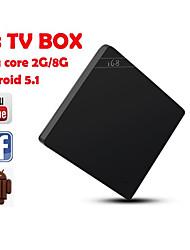 i68 androide 5.1 TV Box rockchip rk3368 octa 64bit núcleo 2gb / 8gb bluetooth4.0 kodi 2.4g / 5 GHz dual gigabit H.265 wifi lan